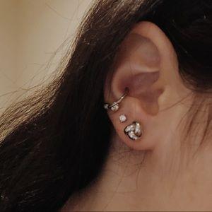 Blue Nile  Silver Knot Earrings